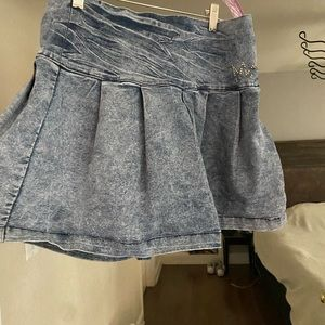 Nicki Minaj stretch jean skirt size 11/12 CUTE!